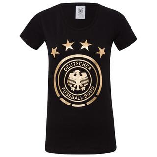T-Shirt Gold-Logo Schwarz Frauen