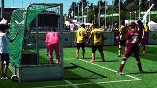 Impressionen vom Blindenfußball in Berlin