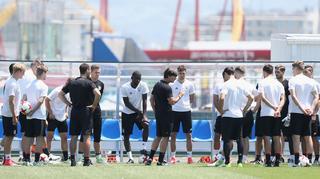 Abschlusstraining vor dem Spiel gegen Kamerun