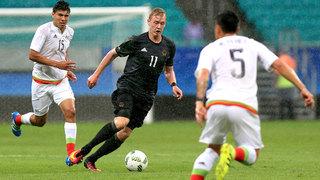 Deutschland startet mit Remis in das Olympische Fußballturnier