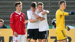 U 19 gewinnt 3:1 gegen Dänemark