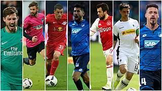 Sieben Spieler vor dem Debüt