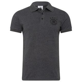Poloshirt Logo Grau Melange