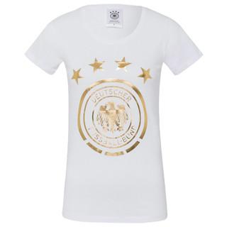 T-Shirt Gold-Logo Weiß Frauen