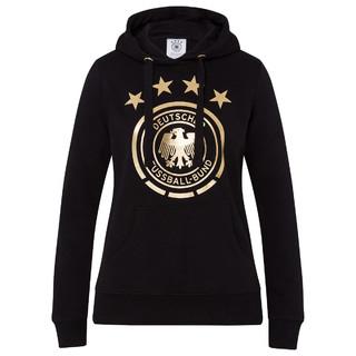 Hoodie Gold-Logo Schwarz Frauen
