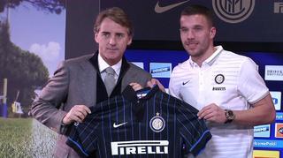 Podolski in Mailand vorgestellt