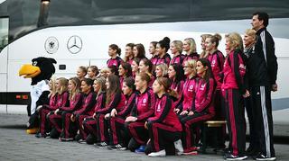 Der neue Mannschaftsbus der DFB-Frauen
