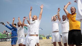 Finaltag der Beachsoccer-Meisterschaft in Warnemünde