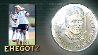 Fritz-Walter-Medaille  für Nina Ehegötz