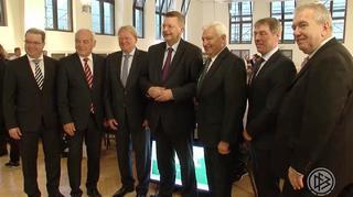 Reinhard Grindel beim Verbandstag des Fußball-Verbandes Mittelrhein