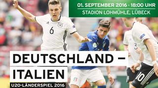 Der Klassiker bei der U 20: Deutschland vs. Italien