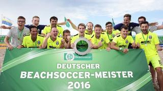Finaltag der Beachsoccer-Meisterschaft in Warnemünde