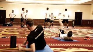 Die Mannschaft: Anschwitzen im Hotel
