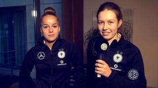 Neu im Team: Giulia Gwinn und Jana Feldkamp