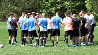 U 17-Junioren vor dem 2. Gruppenspiel gegen Serbien