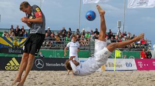 Vor dem Auftakt der Deutschen Beachsoccer-Liga