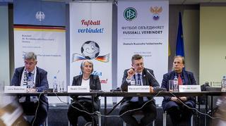 Deutsch-Russische-Fußballwoche: Reinhard Grindel in Moskau