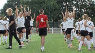 U 20-Frauen: Erstes Training in Vannes