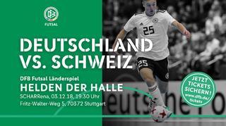 Futsal-Nationalteam gegen die Schweiz: Jetzt Tickets sichern