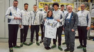 Die Mannschaft im VW-Werk