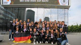 U 17-Europameisterinnen: Empfang im Deutschen Fußballmuseum