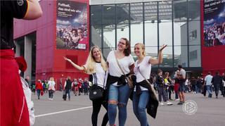 Tolle Stimmung beim Länderspiel in Mainz
