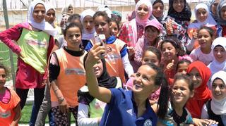 Lira Alushi besucht DFB-gefördertes Projekt in Jordanien