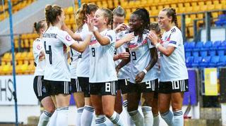 U 19-Frauen nach dem Sieg gegen Belgien