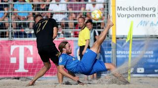 Tag 1 des Beachsoccer Final Four in Warnemünde