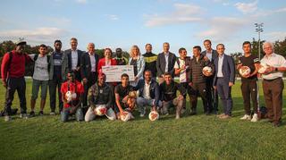 2:0 für ein Willkommen: Cacau besucht den SV Tübingen