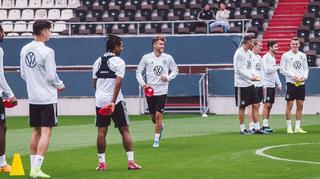 Die Mannschaft: Gute Stimmung im Training