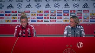 PK-Highlights mit Martina Voss-Tecklenburg und Johanna Elsig