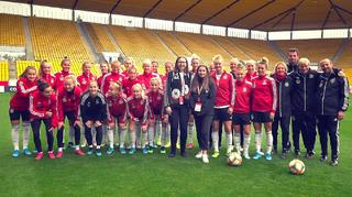 Fan-tastic Moment mit den DFB-Frauen