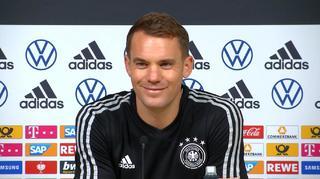 PK der Nationalmannschaft: Estland vs Deutschland mit Manuel Neuer und Bundestrainer Joachim Löw