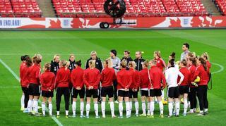 Training im Wembley