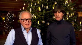 Fritz Keller und Joachim Löw wünschen frohe Weihnachten