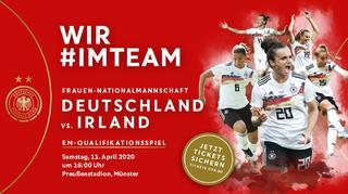 Die DFB-Frauen in Münster: Jetzt Tickets sichern!
