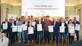 Verleihung der Sepp-Herberger-Urkunden in Berlin
