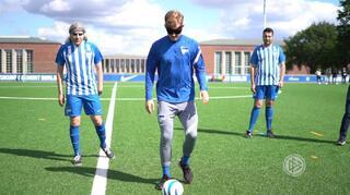 Hertha-Blindenfußballer treffen Hertha-Stars