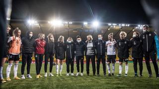 Martina Voss-Tecklenburg zum Sieg gegen Belgien