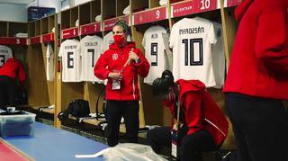 Behind the scenes beim  Länderspiel der DFB-Frauen