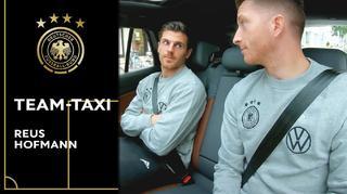 DFB Team-Taxi mit Jonas Hofmann und Marco Reus