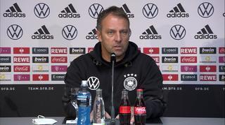 Pressekonferenz der Nationalmannschaftmit Bundestrainer Hansi Flick und Serge Gnabry