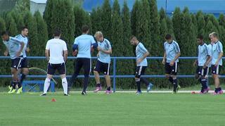 U 19-Junioren vor dem Spiel gegen Serbien