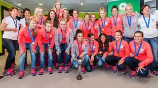 U 20-Frauen: Ankunft der Weltmeisterinnen