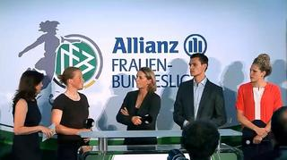 Auftaktveranstaltung der Allianz Frauen-Bundesliga aus Frankfurt