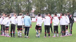 U 19-Junioren vor dem Spiel gegen Kasachstan