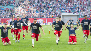 RB Leipzig feiert Aufstieg