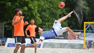 Das war der 2. Spieltag der Beachsoccer-Liga in München