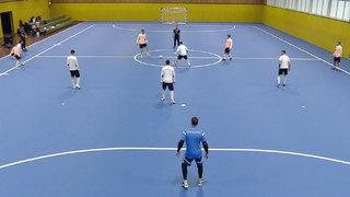 So trainiert die Futsal-Nationalmannschaft den Spielaufbau im 1-4-0-System